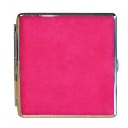 Rosa mit Silbermetall Zigarettenetuis