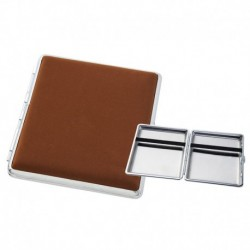 Braun mit Silbermetall Zigarettenetuis