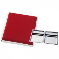 Rot mit Silbermetall Zigarettenetuis