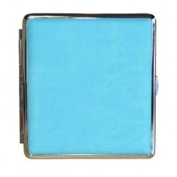 Blau mit Silbermetall Zigarettenetuis