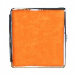 Orange mit Silbermetall Zigarettenetuis